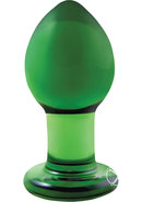 Crystal Premium Glass Plug Green 3 Inch